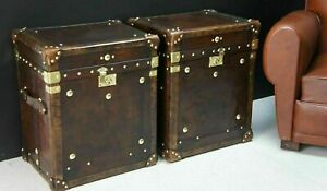 Bespoke Handmade Leather Occasional Side Table Trunks Great Item