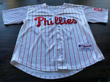 MLB PHILADELPHIA PHILLIES CHASE UTLEY majestic Mens Stitched Jersey- SZ 48 Large