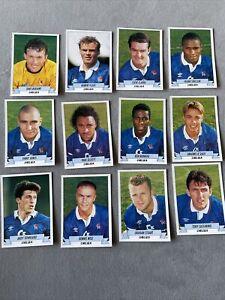 Panini Football 93 Complete Chelsea Team Set Stickers + Backs 1993 Rookie