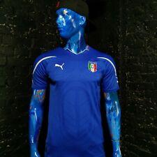 Italy Jersey Home football shirt 2010 - 2011 Puma Maglia Blue Mens Size M