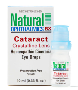 Natural Ophthalmics Cataract Crystalline Homeopathic Eye Drops 10 ml