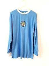 Manchester City Camisa Casa Retro. pequeño Adultos. puntuación Dibujar. Azul Fútbol Top S.