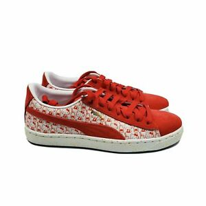 Puma Girl Youth Hello Kitty Red Suede Classic X Low Sneakers 366463 01 Size 6.5C