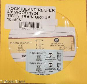 Tichy Train Group #10359N ROCK ISLAND REEFER 40' WOOD 1924 (Water Slide Decal)