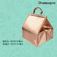 Insulated Tote Bags Cake Food Thermal Cooler Waterproof Storage Carry Champagne