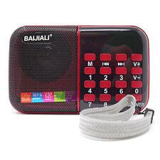 Mini radio portatile radiolina FM lettore mp3 USB microSD BJL-180 + pila 18650