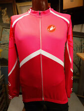 CASTELLI CYCLING JERSEY WOMEN'S M THERMAL LONG SLEEVE PINK FULL ZIP SOFT SHELL