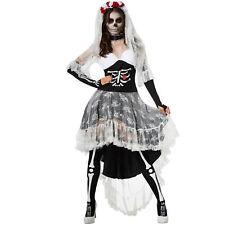 Kostüm Damen Zombie Skelett Braut Geisterbraut Fasnacht Karneval Halloween