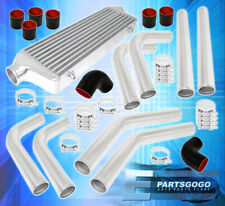 """2.5""""Inlet Fmic Front Mount Intercooler 64mm Turbo Aluminum Pipes Piping Kit"""