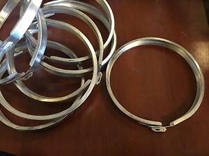 MILBANK Stainless Steel KWH Electric Meter  Socket Retainer Lock Ring ,4 RINGS