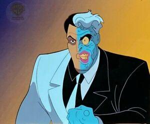BRUCE TIMM rare TWO-FACE cel ALMOST GOT 'IM Batman BTAS WB COA