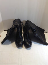 Avenue Boots Women's Size 9 1/2 W Black Wedge Heel Boots Free Shipping