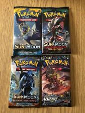 POKEMON SUN & MOON BOOSTER PACK LOT! 4 PACKS!