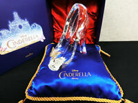 Disney Cinderella Glass Slipper Blue Cushion Set Telegram Limited Japan F/S New