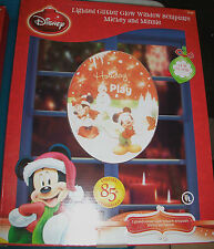 """Disney Mickey & Friends Ho Ho Ho Lighted Glitter Glow Window Sculpture 14"""""""