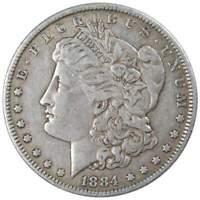 1884 Morgan Dollar VF Very Fine 90% Silver $1 US Coin Collectible