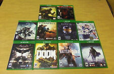 LOT of 10 Xbox ONE Video Games! Doom Halo Metal Gear Solid V Dark Souls III more