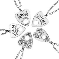 Stainless Steel OUIJA Heart Hollow Pendant Necklace Punk Jewelry Unisex Gift