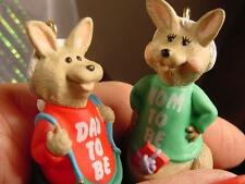 HALLMARK CHRISTMAS ORNAMENTS Kangaroo Mommy Daddy to be Babys first 1991 parents