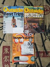 Outside magazine lot, 3 issues, Best Trips, Secrets of Southwest, Buyer's Guide