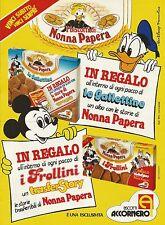 W5531 Biscotti Accornero - NONNA PAPERA - Pubblicità 1984 - Advertising