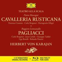 CAVALLERIA RUSTICANA & PAGLIACCI-KARAJAN/OTSM/COSSOTTO/+2 CD+BLU RAY AUDIO NEW!