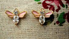 Bee rhinestone gold charm jewellery supplies C1137
