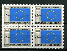 Austria 1969 SG#1551 Council Of Europe Cto Used Block #A57807