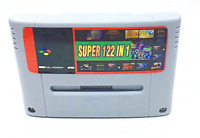 122 in 1 Super Nintendo SNES multi cart Game Cartridge for PAL EUR Console Gray