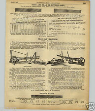 1922 PAPER AD Howell Portable Gang Drag Butting Saw Machine Logging Timber Wood