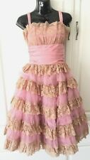 BETSEY JOHNSON XS XXS Designer CUPCAKE Prom Party Pinup Pink Mauve Dress