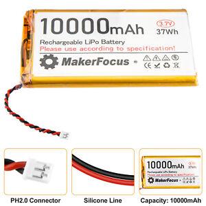 3.7V 10000mAh Lipo Lithium Rechargeable Battery Micro PH2.0 Plug to Pi UPS Board