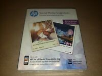 HP Social Media Snapshots Sticky Back Photo Paper 4 x 5 printer paper brand new