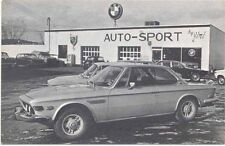 BMW 3.0S USA Dealer postcard issued by Auto Sport by Jiri