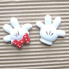 "US SELLER - 10 pc x (1 1/8"") Resin Mouse Glove Flatback for Mickey/Minnie SB481"