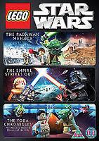 LEGO Star Wars Triple Pack Padawan Menace Empire Strikes Out Yoda Chronicles DVD