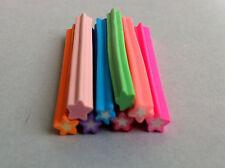 8 tiges batons cane fimo Bijoux 3D Ongles nail etoiles  +lame