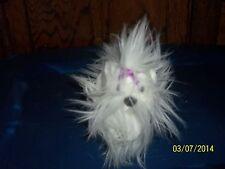 """AURORA WHITE LONG HAIR PUPPY DOG PLUSH 6"""" TALL"""