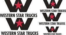 Western Star Stickers x 5, 2 x 250 x 115, 2 x 175 x 80 and 1 x 120 x 55