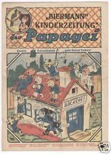 Der Papagei 8. Jahrgang 1933 Vorkriegscomics 9 Hefte Kinderzeitung Glarus