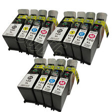 12 PK 100XL For Lexmark 100 XL Ink Cartridges 3Set S605 S305 S405 S505 Pro205
