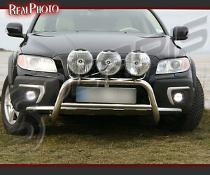 VOLVO XC70 2007+ BULL BAR WITHOUT AXLE BARS +GRATIS! STAINLESS STEEL!!