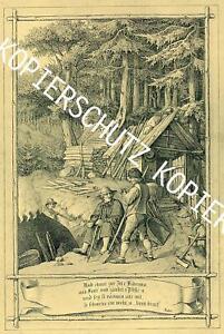 Schwarzwald - Köhler -  Schmuckblatt - Hieronymus von Lucian Reich von 1852