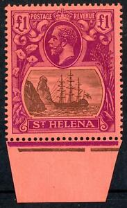 St Helena 1922-37 £1 Grey and Purple/Red MVLH SG 96 Cat. £450