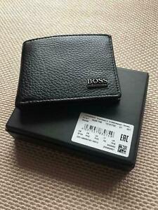 New Hugo Boss Mens Leather Black Wallet  Monist 50261706 GIFT BOX