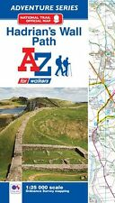 Hadrian's Wall Path Adventure Atlas by A-Z Maps (Paperback, OS 25000 Mapping)