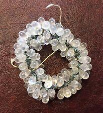 Vintage NOS Japan Clear Pear Drop Rustic Verdigris Metal Glass Bead Finding Lot