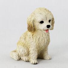 Cockapoo blond puppy Dog Resin Figurine Hand Painted Miniature Small Mini New