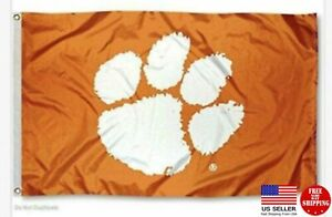 FLAG 3X5 Clemson Tigers Football New Fast USA Shipping Clemson Tiger