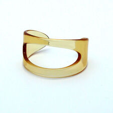 Clear Resin Modern Bangle Cuff